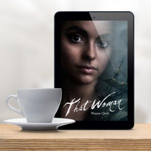 Photo of an iPad with the cover of That Woman on its screen.