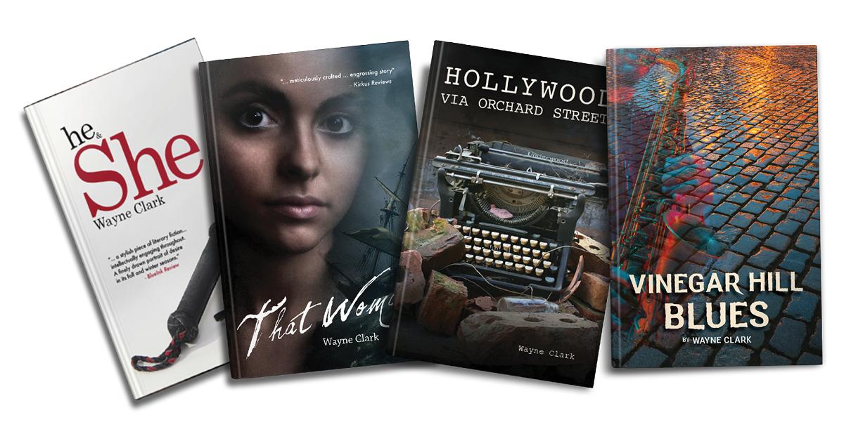 Covers of Wayne Clark's novels